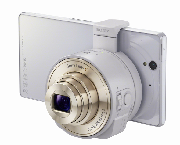 QX10 White with XperiaZ 1